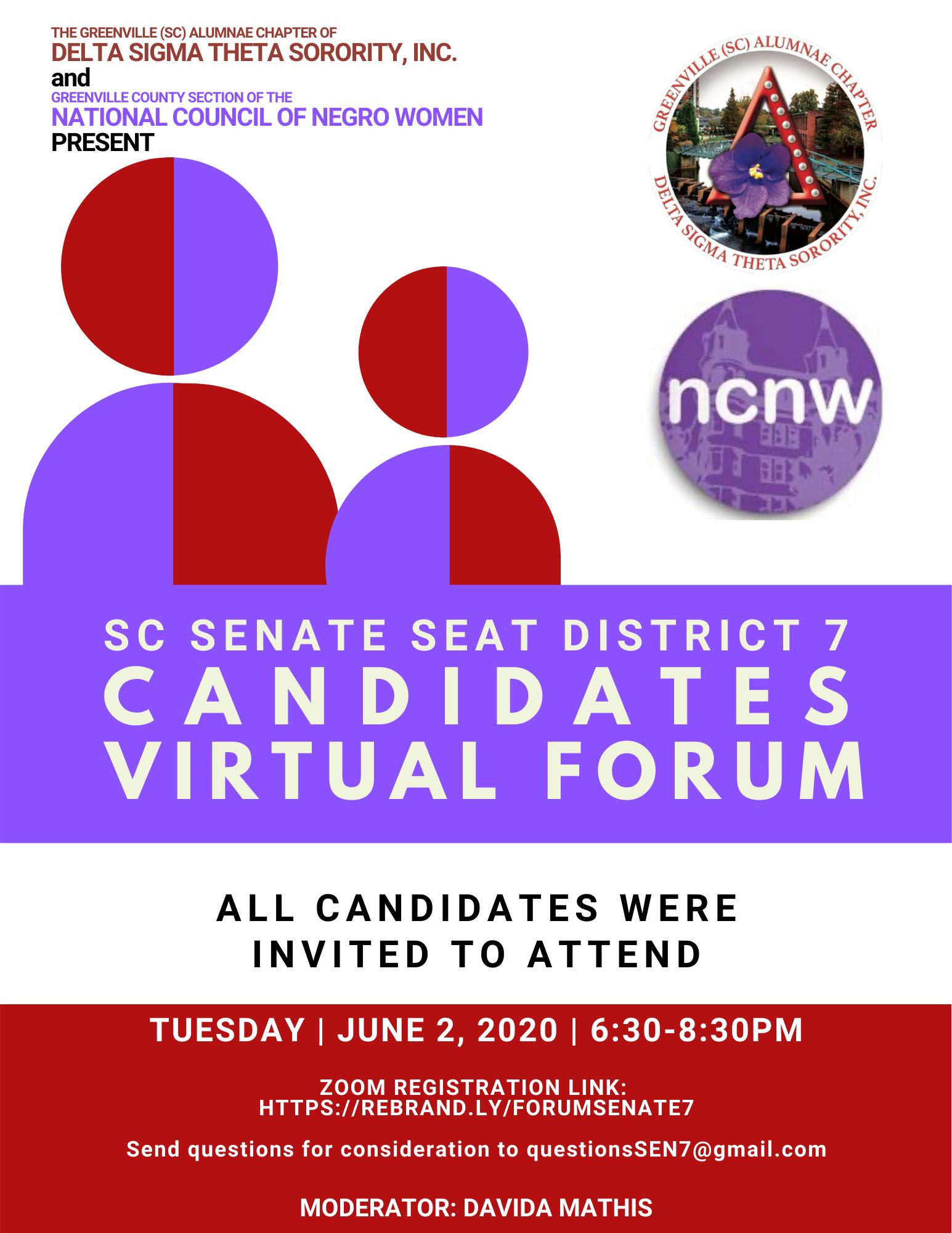 Greenville Senate District 7 Candidates Forum